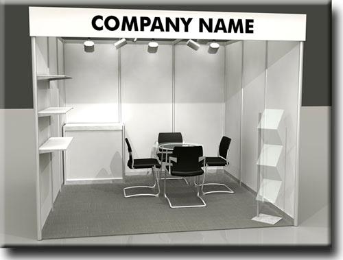 Stand: Básico , Prateleira, balcão, Porta  Folder, Mesa cadeira